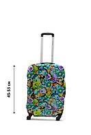 Чехол для чемодана  Coverbag  дайвинг  S весенние цветы разноцветный, фото 1
