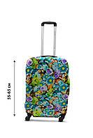 Чехол для чемодана  Coverbag дайвинг  M весенние цветы разноцветный, фото 1