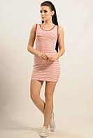 Короткое женское платье-майка в красную полоску RiMari  Майами 42, 44, 46, 48, 50, 52