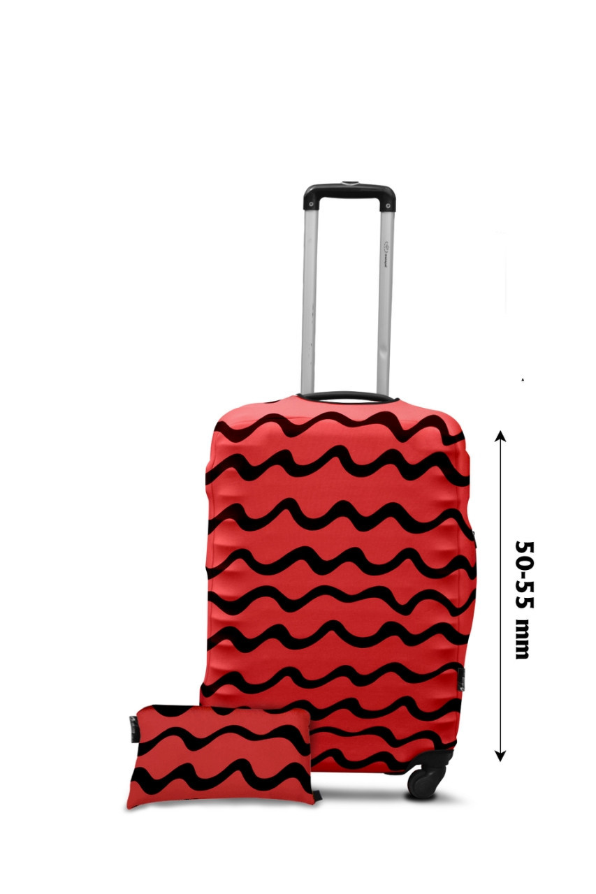 Чехол для чемодана  Coverbag  дайвинг  S  волны  коралл