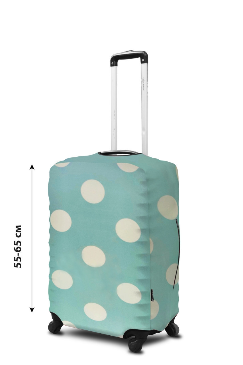 Чехол для чемодана Coverbag  неопрен  M горох мята