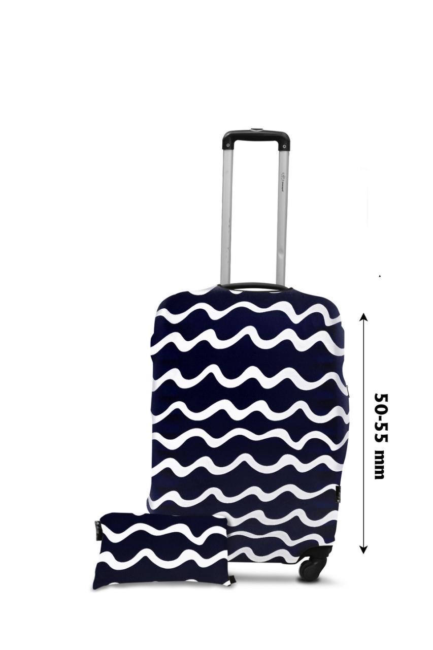Чехол для чемодана  Coverbag  дайвинг  S  волны  синие