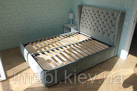 М'яке ліжко з підйомним механізмом (Блакитна)