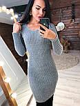 Женское вязаное платье рубчик (в расцветках), фото 2