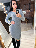 Женское вязаное платье рубчик (в расцветках), фото 3