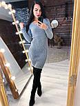 Женское вязаное платье рубчик (в расцветках), фото 5