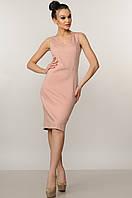 Пудровое женское платье-футляр RiMari Лори 46, 48, 50, 52