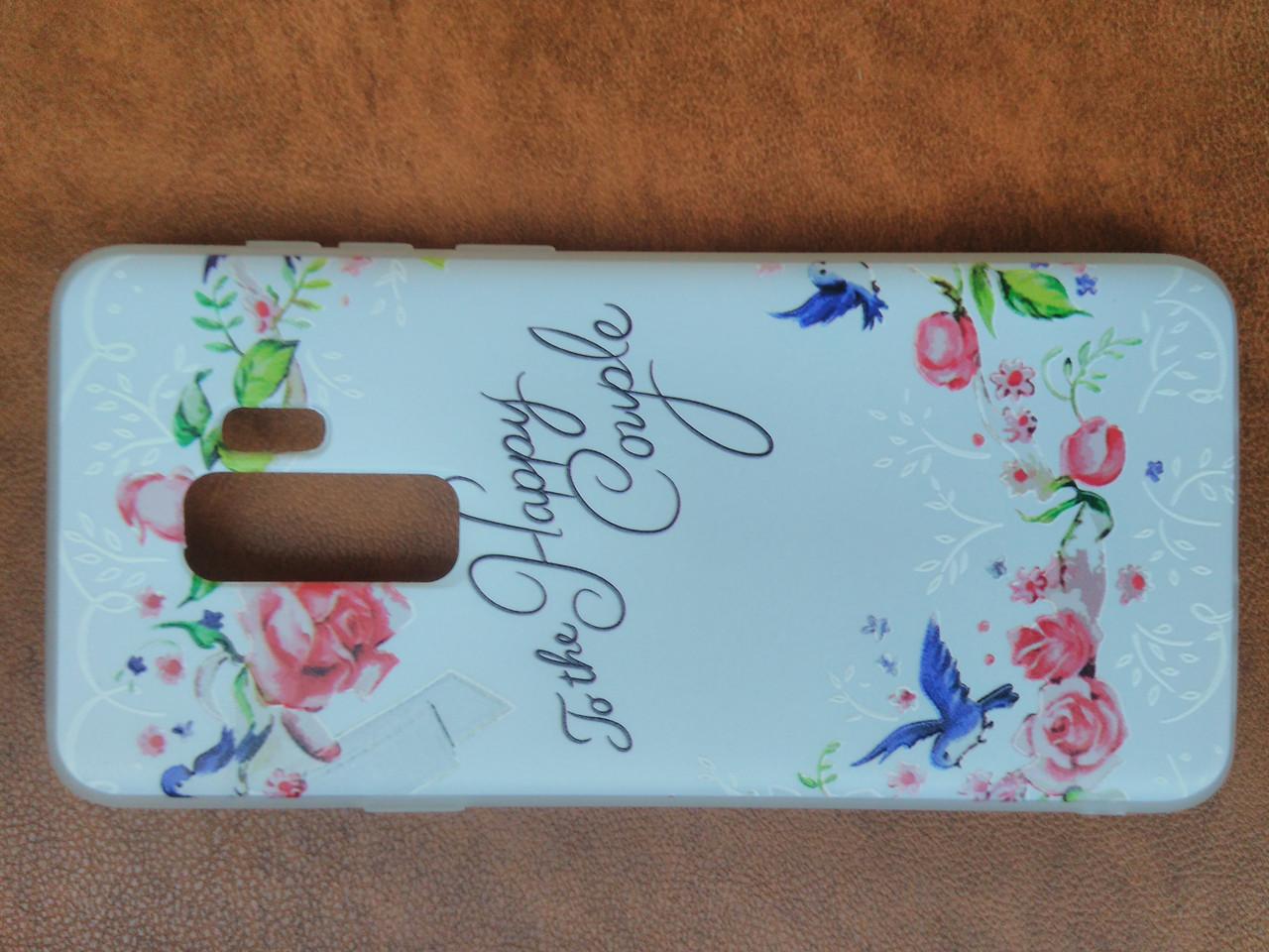 Накладка Прованс  силиконовая с рисунком  Samsung S9 Plus
