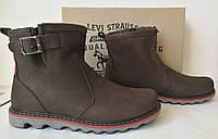 Levis! Мужские зимние кожаные в стиле Levi's Угги! Левис ботинки сапоги уги коричневые