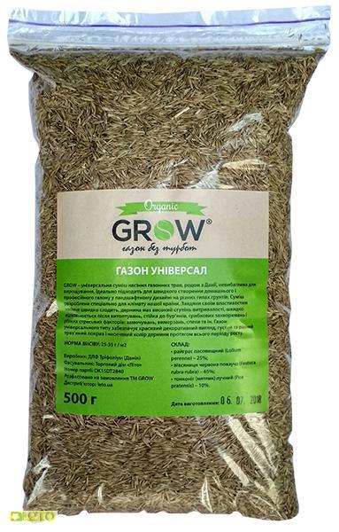 Газонная трава универсальная ТМ Grow (Дания) DLF Seeds & Science, 500г