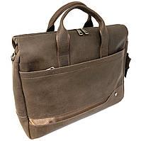 Мужской кожаный портфель Vesson 4273 коричневый, фото 1