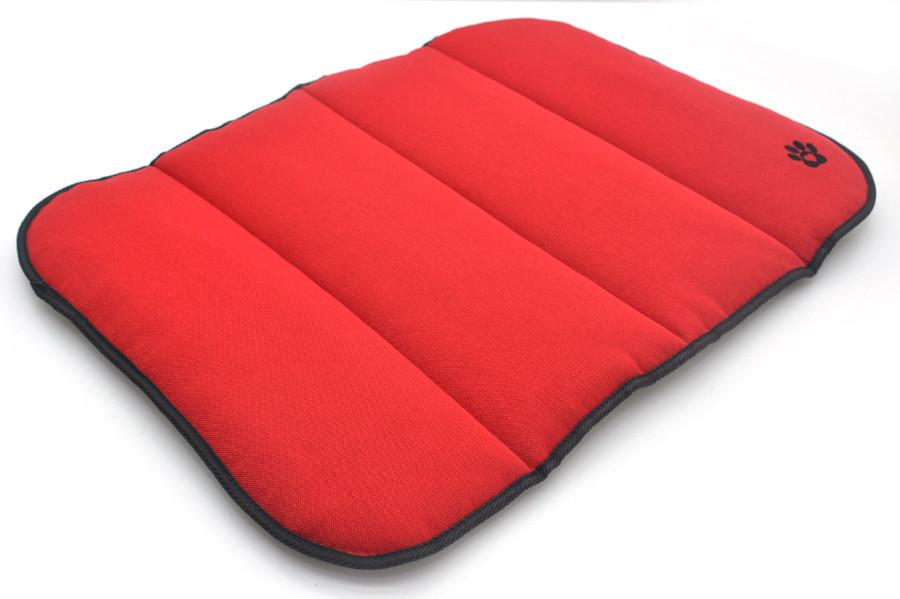 Матрас коврик для собак и котов Loft №4 70х110 см красный + серый