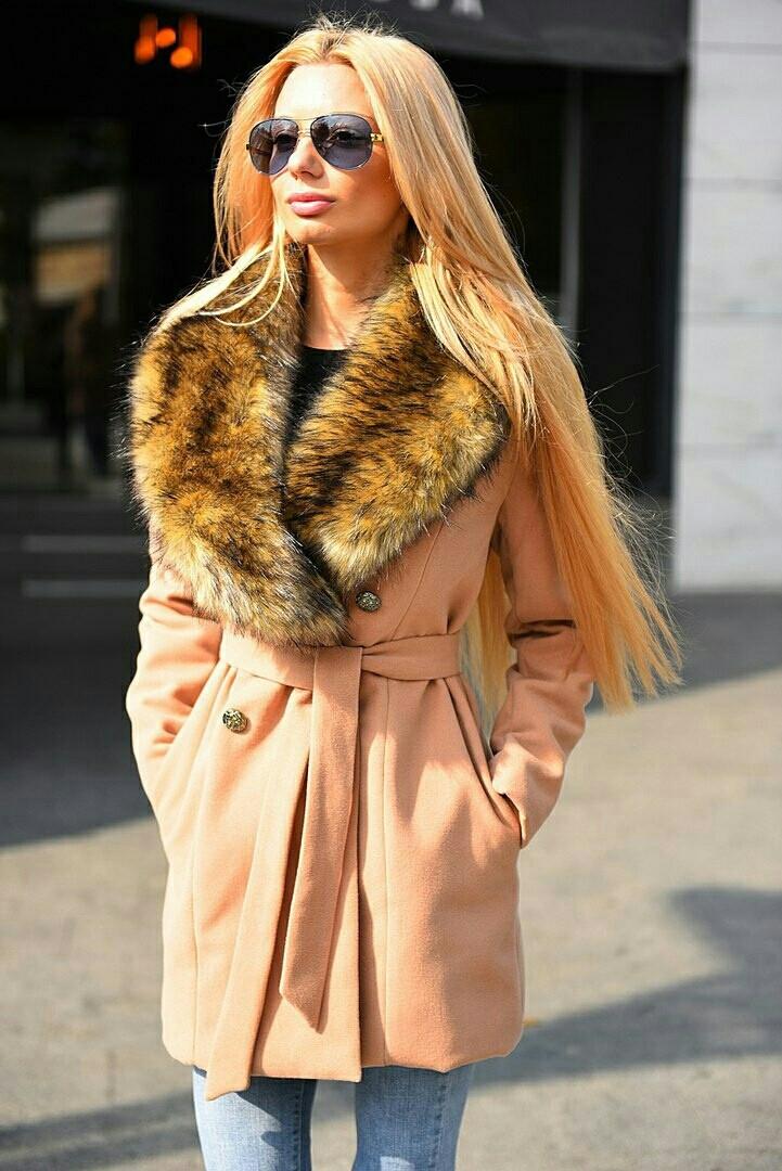 Женское модное зимнее пальто  ВХ8082 (норма)