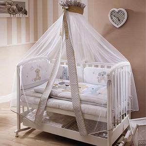 Балдахины,защита в кроватку, постельные комплекты