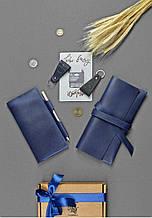 """Подарочный набор кожаных аксессуаров путешественникам """"Рим"""" для пары: два тревел-кейса и два брелка"""