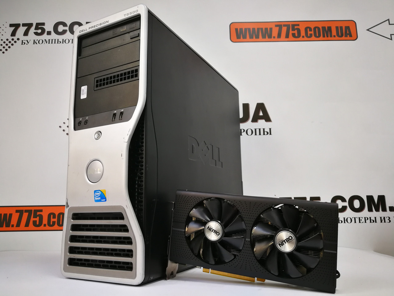Игровой компьютер Dell WS T5500, Intel Xeon x5650 3.06GHz, RAM 12ГБ, SSD 120GB, HDD 3ТБ, RX 470 8GB
