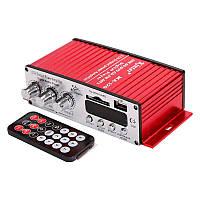 Усилитель звука в машину и для дома Kinter MA-120 USB + MP3 2*20W (2х канальный в авто)