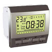 Цифровой програмируемый термостат для обогревателя и кондиционера, алюминий, Schneider electric Unica