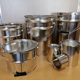 Металлическая Тара (бочки,барабаны), жестяные ведра под обруч