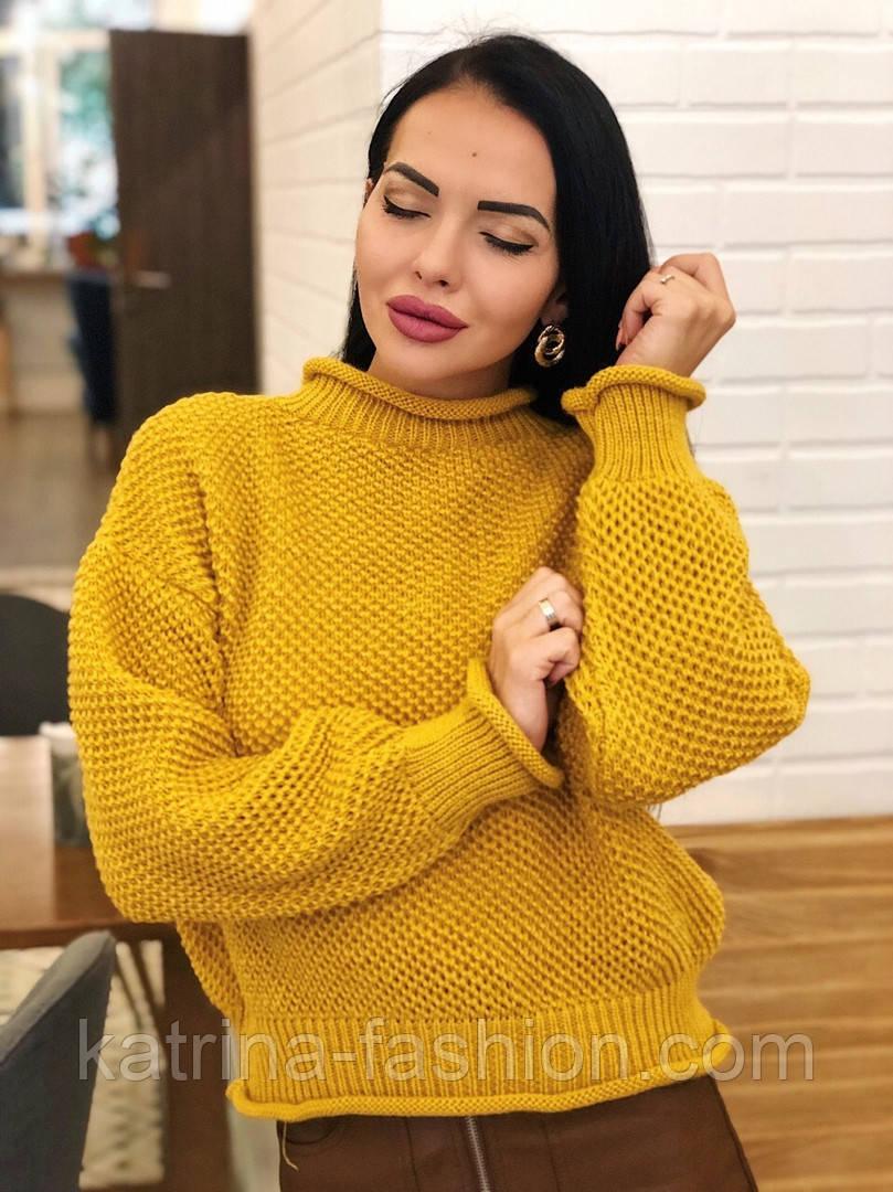 Женский стильный базовый шерстяной свитер (в расцветках)