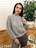 Женский стильный базовый шерстяной свитер (в расцветках), фото 6