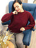 Женский стильный базовый шерстяной свитер (в расцветках), фото 10