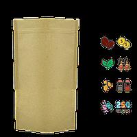 Упаковка для кофе/чая 250г 140х240х40мм (крафт+РЕ, zip-замок) (уп/10шт)