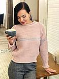 Женский стильный базовый шерстяной свитер с полосками (в расцветках), фото 6