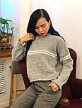 Женский стильный базовый шерстяной свитер с полосками (в расцветках), фото 7