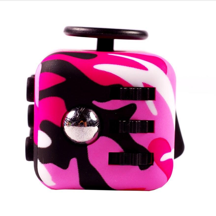 FidgetCube - 6 сторін (рожевий-камуфляж) - 901-22