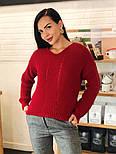 Женский стильный базовый шерстяной свитер/ джемпер (в расцветках), фото 3
