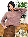Женский стильный базовый шерстяной свитер/ джемпер (в расцветках), фото 9