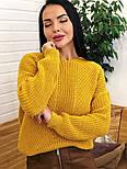 Женский стильный базовый шерстяной свитер/ джемпер (в расцветках), фото 7