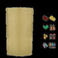 Упаковка для кофе/чая 500г 180х280х45мм (крафт+метал, zip-замок) (уп/10шт)