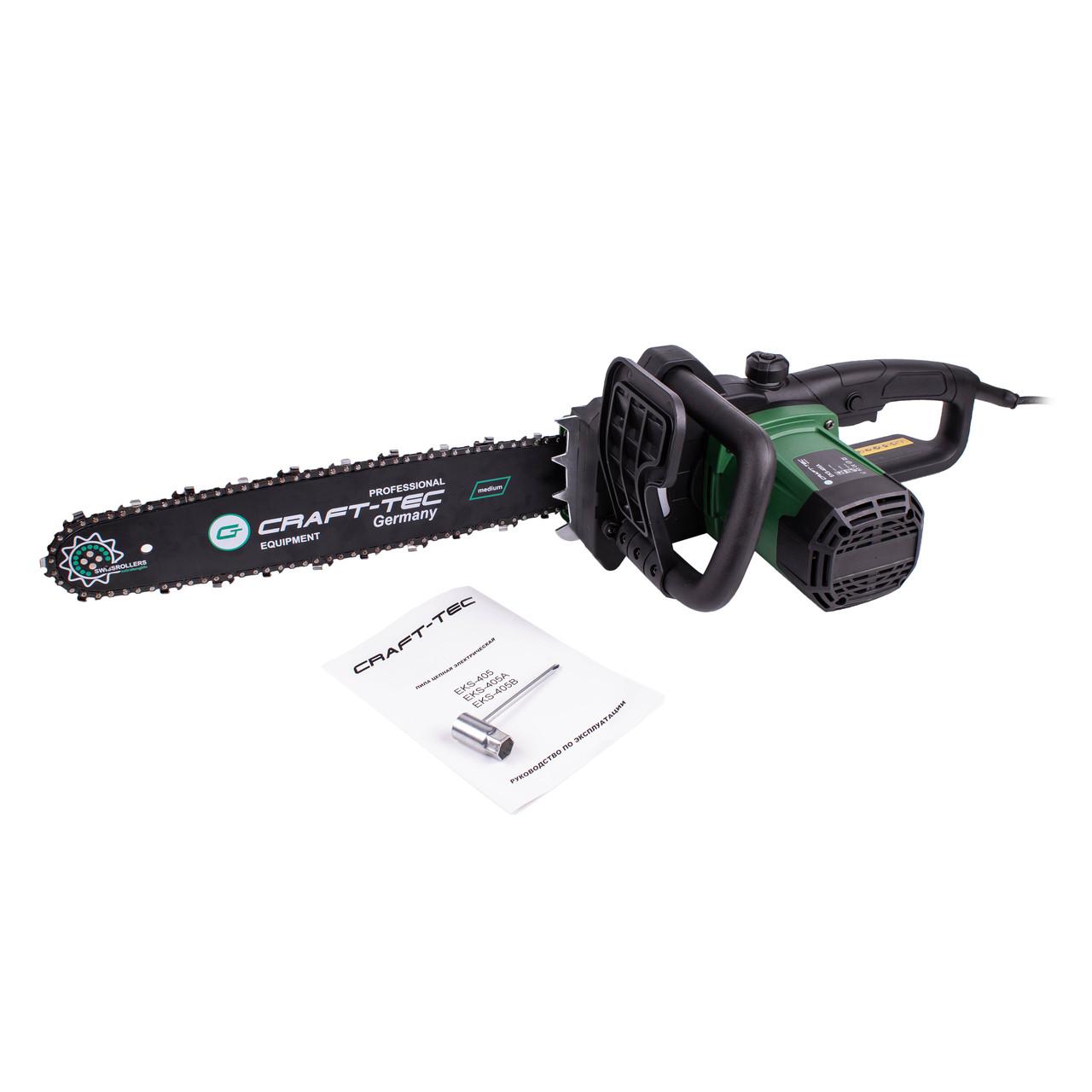 Электропила Craft-tec EKS-405A 1 Шинь + 1 Цепь (быстрый зажим цепи, автомат.масл.насос)
