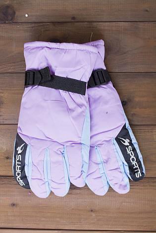 Лыжные перчатки 2002-1 сирень, фото 2