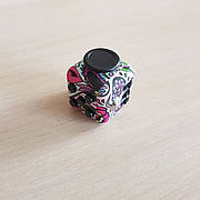 FidgetCube - 6 сторон - (розовый череп) - 901-26