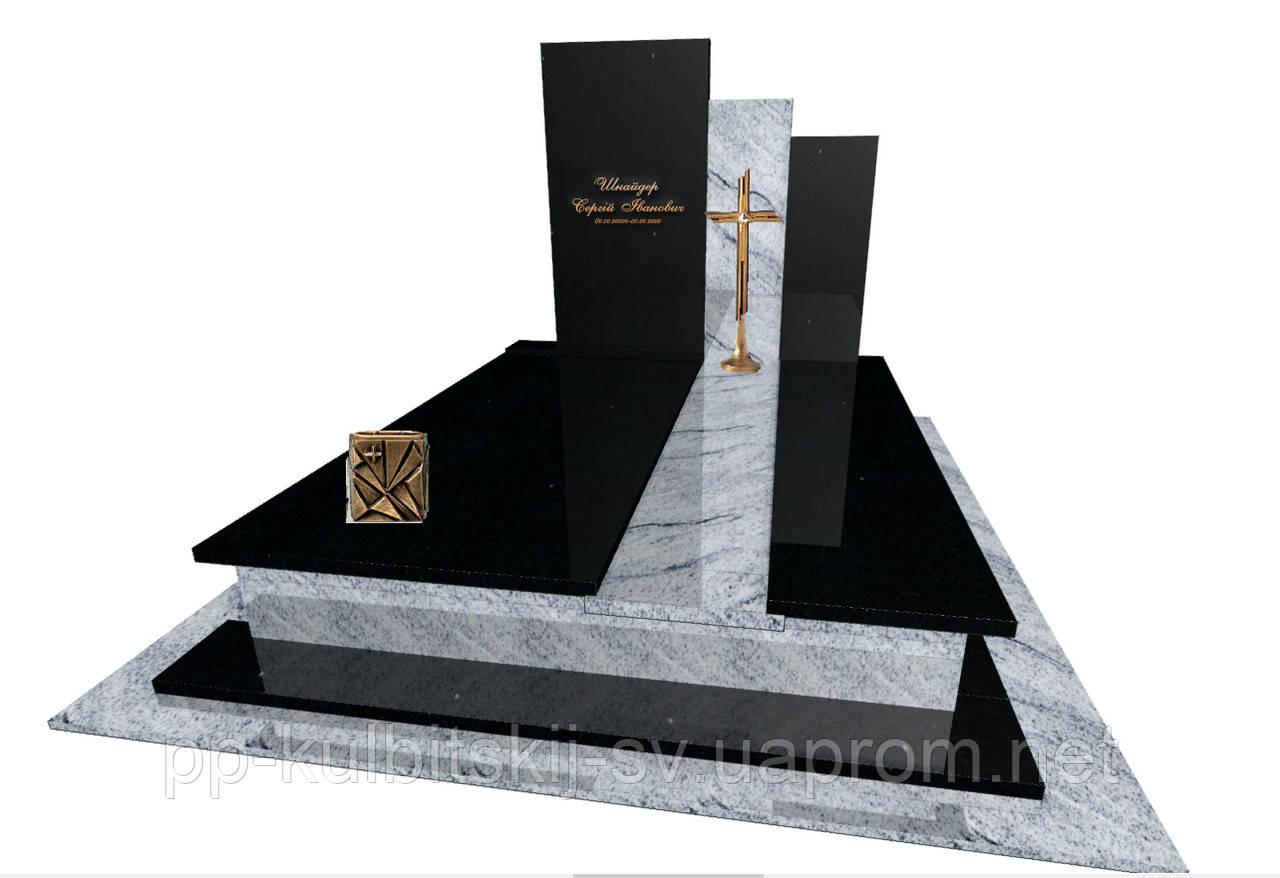 Пам'ятник  гранітний подвійний Елітний  Е8001