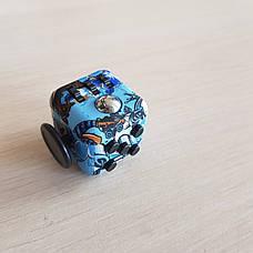 FidgetCube - 6 сторін - (синій-череп) 901-23, фото 2