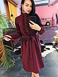 Женское платье-миди с поясом и рюшами(в расцветках), фото 5