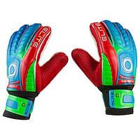 Вратарские перчатки Latex Foam ELITE, размер 7, красный/зеленый GG-ET75