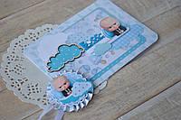 Ножницы и конверт для первого локона. Набор для пострижен на годик (Baby Boss), фото 1