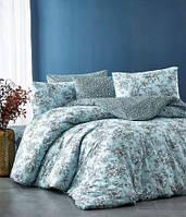 Красивый подарочный комплект постельного белья NAZENIN Estelita mint Турция Ранфорс
