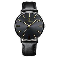 Мужские часы Kemanqi ультратонкие - Черный, фото 1