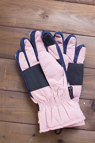 Лыжные перчатки 2002-2 розовые, фото 2