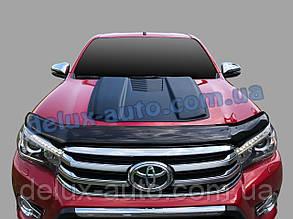 Накапотник на капот большой для Toyota Hilux 2019+ Воздухозаборник на капот на Тойота Хайлюкс с 2019г