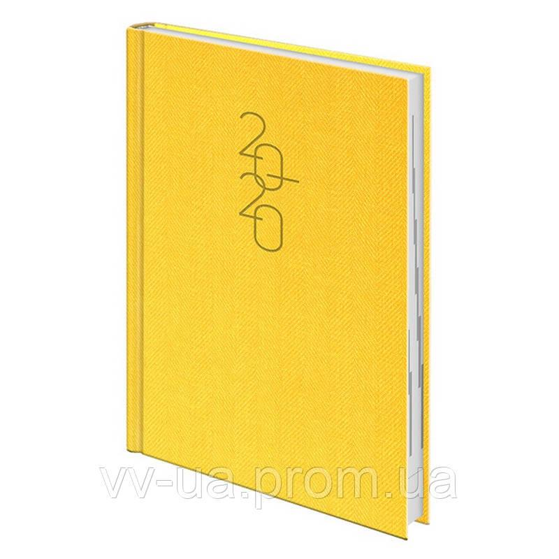 Ежедневник Brunnen 2020 Стандарт Tweed желтый (73-795 32 10)