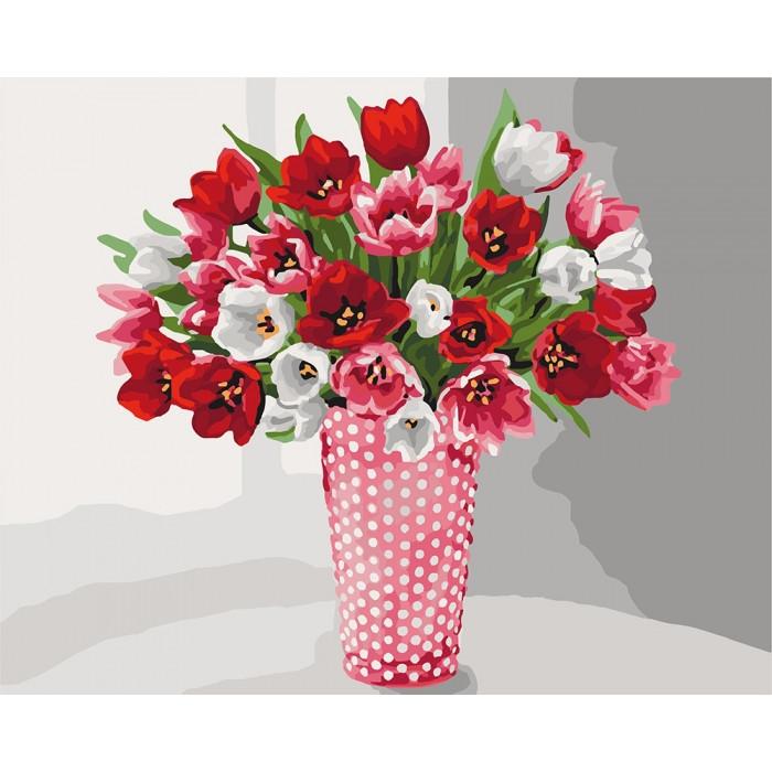 Живопись по номерам Разнообразие тюльпанов KH3062 Идейка 40 х 50 см