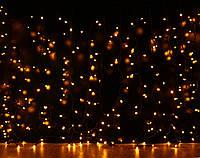 Уличная светодиодная гирлянда Штора Lumion Curtain (Куртейн) 288 led цвет желтый без каб. пит.