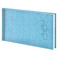 Еженедельник Brunnen 2020 карманный Tweed голубой (73-755 32 33)